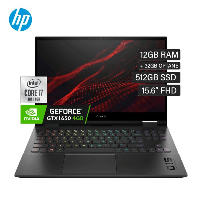 "HP OMEN 15-EK0004LA INTEL CORE I7 10750H RAM 12GB + 32GB OPTANE DISCO 512GB SSD VIDEO 4GB 15.6"" FHD WINDOWS 10 - 15 EK0004LA 1 - R&M Portátiles"