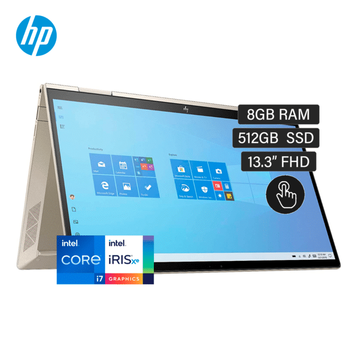 "HP ENVY 13M-BD0023DX INTEL CORE I7 1165G7 RAM 8GB DISCO 512GB SSD 13.3"" FHD TOUCH WINDOWS 10 - ENVY - R&M Portátiles"