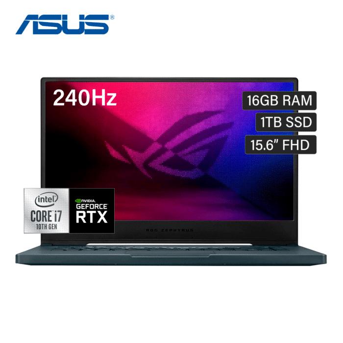 """LAPTOP ASUS ROG ZEPHYRUS GU502LW-B17N6 INTEL CORE I7 1075H RAM 16GB DISCO 1TB SSD VIDEO 8GB 15.6"""" FHD WINDOWS 10 - GU502LW B17N6 1 1 - R&M Portátiles"""