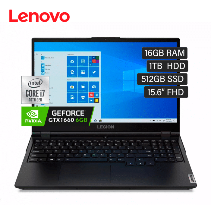 "LENOVO LEGION 5 15IMH05H INTEL CORE I7 10750H RAM 16GB DISCO 1TB HDD + 512GB SSD VIDEO 6GB 15.6"" FULL HD WINDOWS 10 - LEGION 5 151 1 - R&M Portátiles"