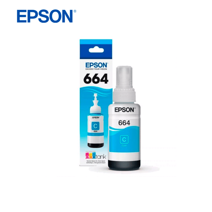 TINTA EPSON T664 ECOTANK 70ML CYAN - TINTA cyan - R&M Portátiles