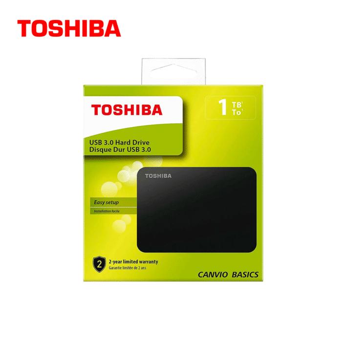 DISCO EXTERNO TOSHIBA 1TB CANVIO BASICS USB 3.0 - TOSHIBA - R&M Portátiles