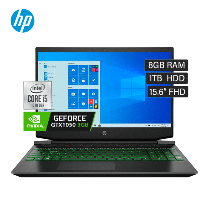 "LAPTOP HP PAVILION 15-DK1021LA INTEL CORE I5 10300H RAM 8GB DISCO 1TB HDD VIDEO 3GB 15.6"" FHD WINDOW 10 - 15 DK1021LA - R&M Portátiles"