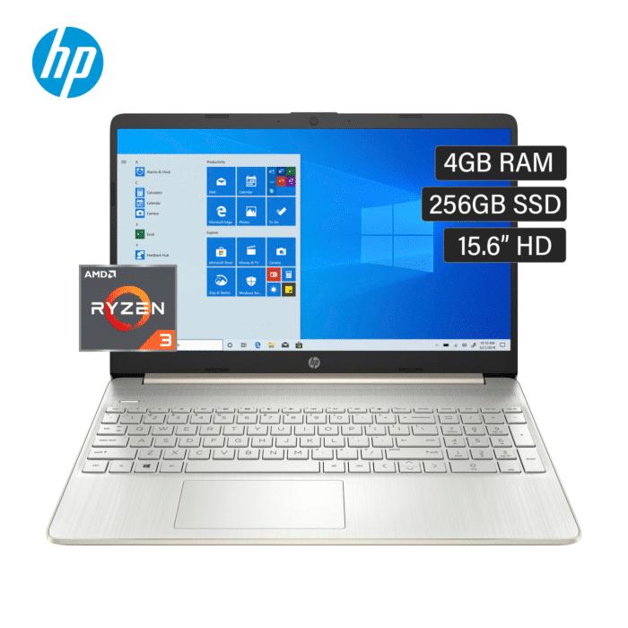 "LAPTOP HP 15-EF1009LA AMD RYZEN 3 4300U MEMORIA 4GB DISCO 256GB SSD 15.6"" HD WINDOWS 10 - 15 EF1009LA 1 - R&M Portátiles"