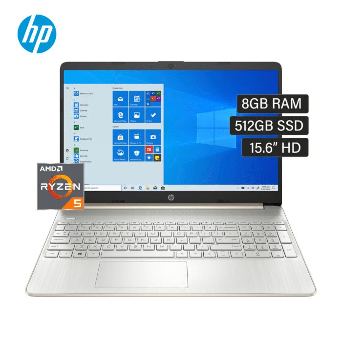 "LAPTOP HP 15-EF1019LA RYZEN 5 4500U RAM 8GB DISCO 512GB SSD 15.6"" HD WINDOWS 10 - 15 EF1019LA - R&M Portátiles"