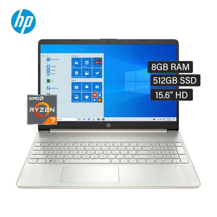 "LAPTOP HP 15-EF1020LA RYZEN 7 4700U RAM 8GB DISCO 512GB SSD 15.6"" HD WINDOWS 10 - 15 EF1020LA 1 - R&M Portátiles"