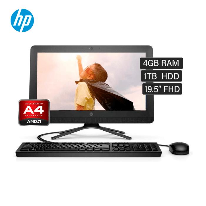 """HP AIO 205 G3 AMD A4 9125 RAM 4GB DISCO 1TB HDD 19.5"""" FHD FREEDOS - AIO A4 1 - R&M Portátiles"""