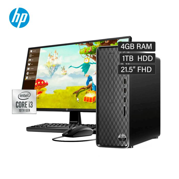 "COMPUTADORA HP SLIM S01-PF100BLA INTEL CORE I3-1021 RAM 4GB DISCO 1TB HDD 22.1"" FHD WINDOWS 10 - PC HP I3 - R&M Portátiles"