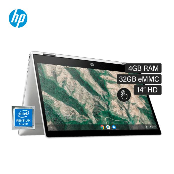 "LAPTOP HP CHROMEBOOK X360 14B-CA0013DX INTEL CELERON N4000 RAM 4GB DISCO 32GB EMMC 14"" HD CHROME OS - 14B CA0013DX - R&M Portátiles"