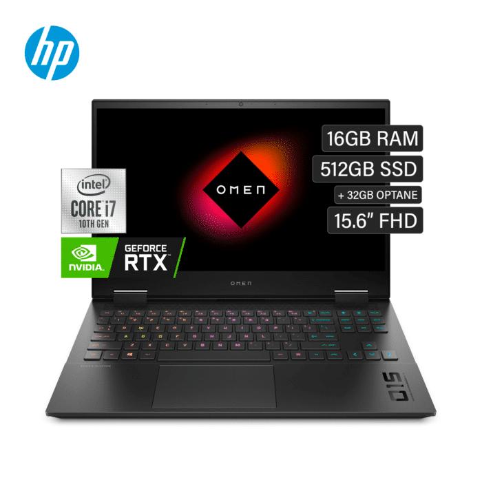 "LAPTOP HP OMEN 15-EK0007LA INTEL CORE I7 10750H RAM 16GB DISCO 512GB SSD + 32GB OPTANE VIDEO 8GB 15.6"" FHD WINDOWS 10 - 15 EK0007LA 1 - R&M Portátiles"