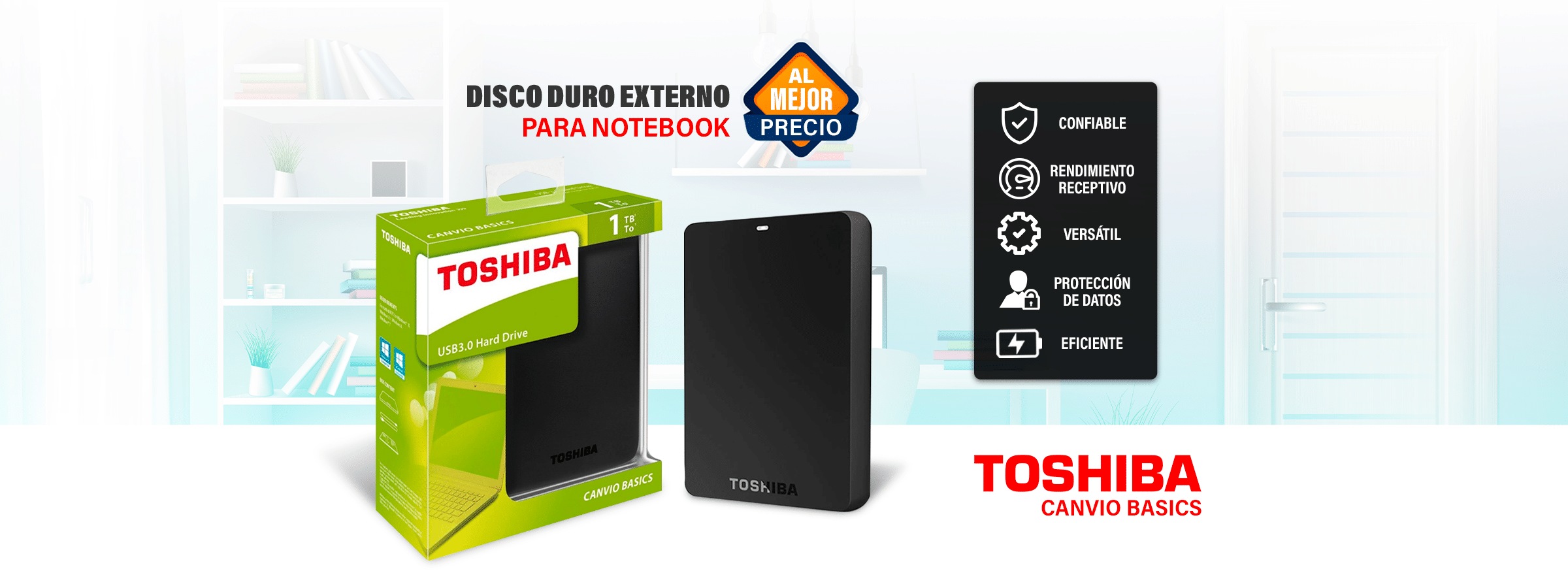 Home - BANNER TOSHIBA 1TB EXTERNO - R&M Portátiles