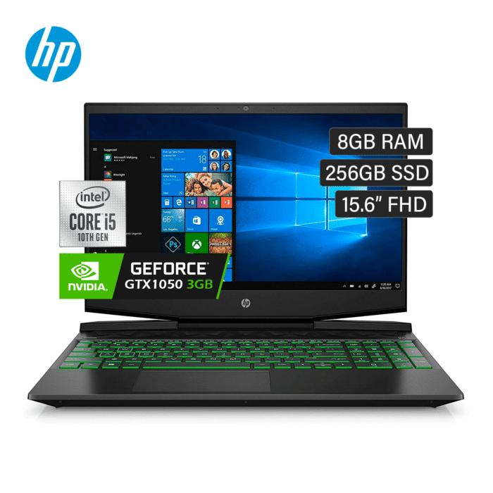 """HP PAVILION GAMING 15-DK1025LA INTEL CORE I5 10300H RAM 8GB DISCO 256GB SSD VIDEO 3GB 15.6"""" FULL HD FREEDOS - PAVILION GTX 1050 3 VIDEO - R&M Portátiles"""