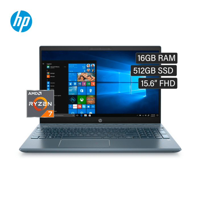 "LAPTOP HP PAVILION 15-EH0011LA RYZEN 7 4700U RAM 16GB DISCO 512GB 15.6"" FHD WINDOWS 10 - 15 EH0011LA - R&M Portátiles"