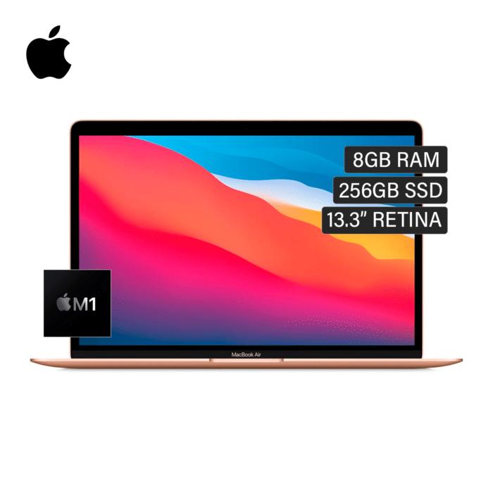 "MACBOOK AIR A2337 CHIP M1 RAM 8GB DISCO 256GB SSD 13.3"" RETINA AÑO 2020 DORADA US - APPLE MACBOOK AIR - R&M Portátiles"