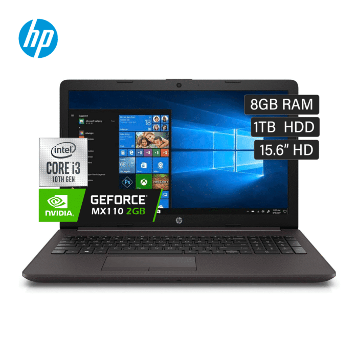 "LAPTOP HP 250 G7 INTEL CORE I3 1005G1 RAM 8GB DISCO 1TB VIDEO 2GB 15.6"" HD WINDOWS 10 - HP 250 G7 VIDEO 2GB - R&M Portátiles"