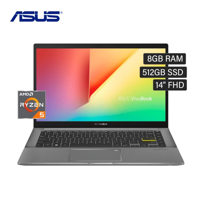 "LAPTOP ASUS M433UA-EB047T RYZEN 5 5500U RAM 8GB DISCO 512GB SSD 14"" FHD WINDOWS 10 BLACK - M433UA EB046TBLK - R&M Portátiles"