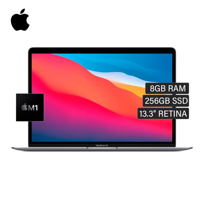 "MACBOOK AIR A2337 CHIP M1 RAM 8GB DISCO 256GB SSD 13.3"" RETINA AÑO 2021 GRIS ESPACIAL US - MACBOOK AIR A2337 GS - R&M Portátiles"