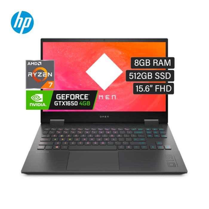 """LAPTOP HP OMEN 15-EN0001LA RYZEN 7 4800H RAM 8GB DISCO 512GB SSD VIDEO 4GB 15.6"""" FHD WINDOWS 10 - 15 EN0001LA - R&M Portátiles"""