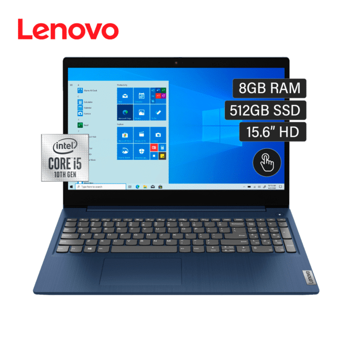 "LAPTOP LENOVO IDEAPAD 3 15IIL05 INTEL CORE I5 10210U RAM 8GB DISCO 512GB SSD 15.6"" HD TACTIL WINDOWS 10 - 15IML05 1 - R&M Portátiles"