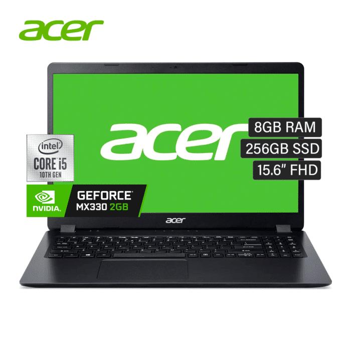 "LAPTOP ACER ASPIRE 3 A315-57G-574G INTEL CORE I5 1035G1 RAM 8GB DISCO 256GB SSD VIDEO 2GB 15.6"" HD WINDOWS 10 - ASPIRE 3 A315 57G 1 - R&M Portátiles"
