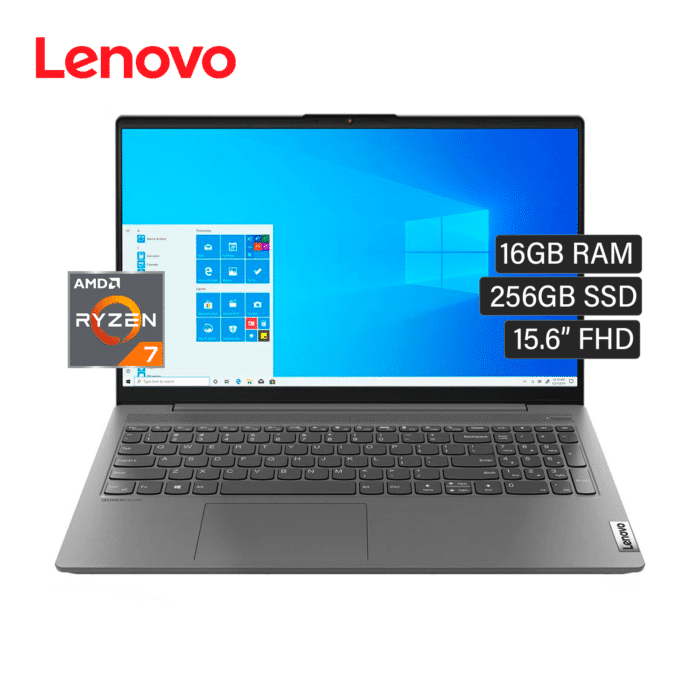 "LAPTOP LENOVO IDEAPAD 5 15ARE05 RYZEN 7 4700U RAM 16GB DISCO 256GB SSD 15.6"" FHD WINDOWS 10 - IDEAPAD 5 15ARE05 - R&M Portátiles"