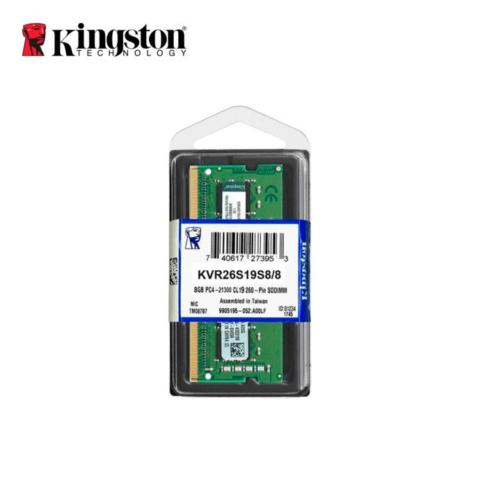 MEMORIA RAM KINGSTON PARA LAPTOP 8GB PC4 2666 MHZ - MEMORIA 8GB - R&M Portátiles