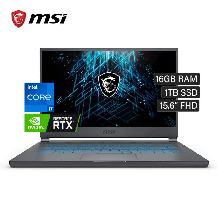 "LAPTOP MSI STEALTH 15M A11SEK-0033US INTEL CORE I7 1185G7 RAM 16GB DISCO 1TB SSD VIDEO 6GB 15.6"" FHD WINDOWS 10 - MSI STEALTH 15M A11SEK - R&M Portátiles"