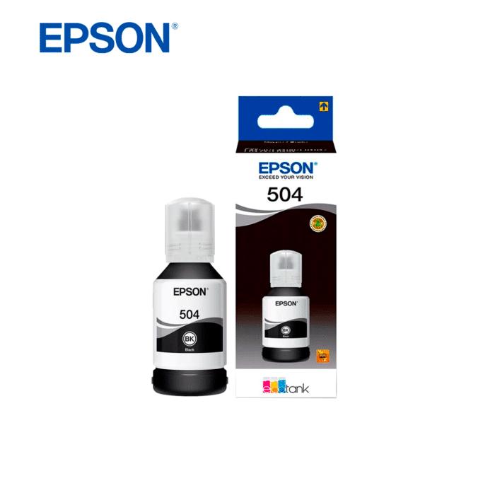 TINTA EPSON T504 ECOTANK 127ML NEGRO - TINTA BLACK - R&M Portátiles