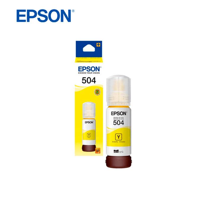 TINTA EPSON T504 ECOTANK 70ML AMARILLO - TINTA YELLOW - R&M Portátiles