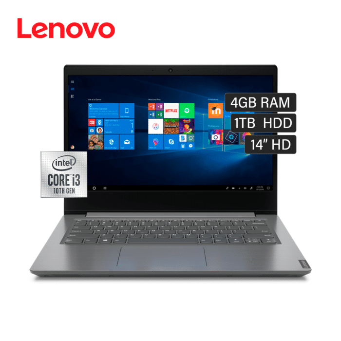 """LAPTOP LENOVO V14-IIL INTEL CORE I3 1005G1 RAM 4GB DISCO 1TB HDD 14"""" HD FREEDOS - V14 IIL 5 - R&M Portátiles"""