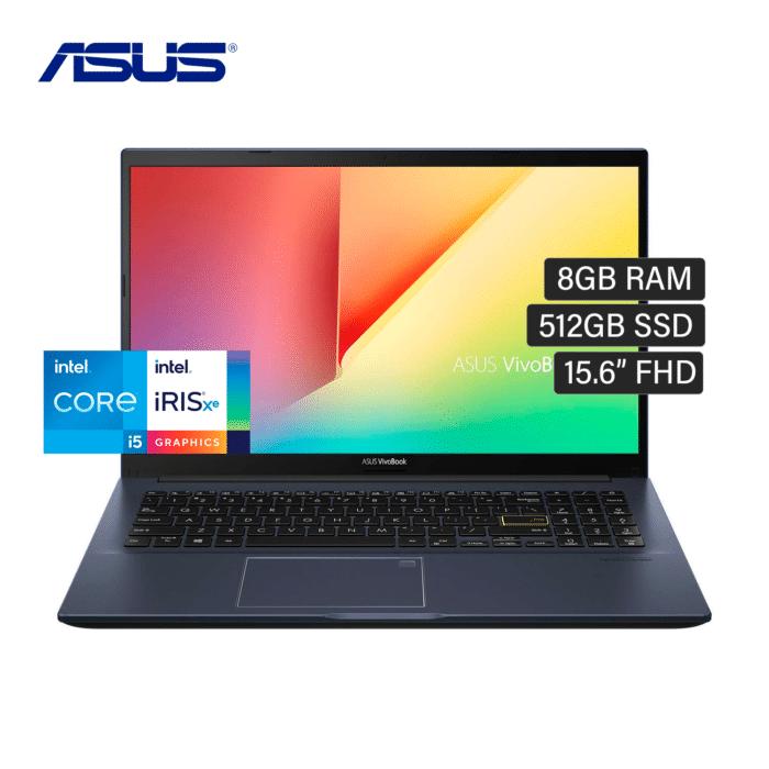 "LAPTOP ASUS X513EA-BQ550T INTEL CORE I5 1135G7 RAM 8GB DISCO 512GB SSD 15.6"" FHD WINDOWS 10 - X513EA BQ550T - R&M Portátiles"