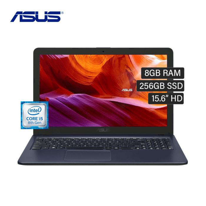 """LAPTOP ASUS X543UA-DM1422 INTEL CORE I5 8250U RAM 8GB DISCO 256GB SSD 15.6"""" FHD ENDLESS - X543UA DM1422 - R&M Portátiles"""