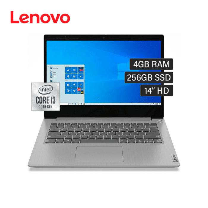 "LAPTOP LENOVO IDEAPAD 3 14IML05 INTEL CORE I3 10110U MEMORIA 4GB DISCO 256GB SSD 14""HD WINDOWS 10 - 14IML05 - R&M Portátiles"