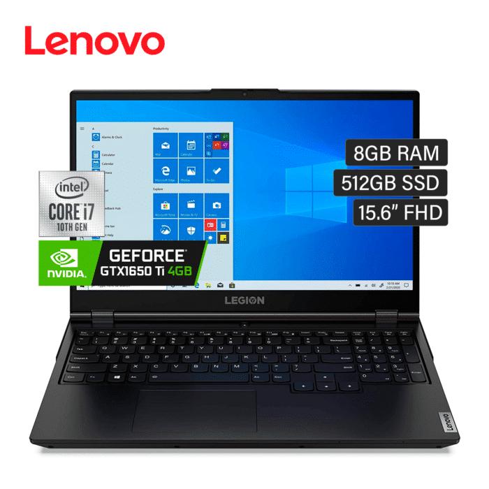 "LAPTOP LENOVO LEGION 5 15IMH05H INTEL CORE I7 10750H RAM 8GB DISCO 512GB SSD VIDEO 4GB 15.6"" FHD WINDOWS 10 - 15IMH05H 1 - R&M Portátiles"