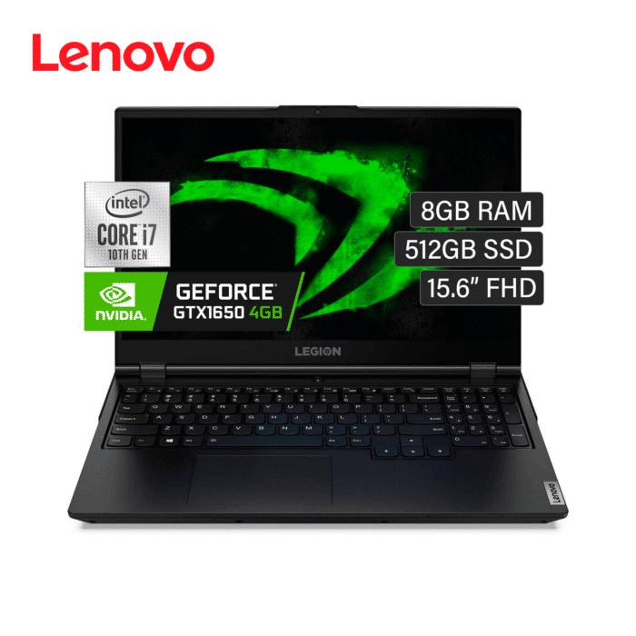 "LAPTOP LENOVO LEGION 5 15IMH05H INTEL CORE I7 10750H RAM 8GB DISCO 512GB SSD VIDEO 4GB 15.6"" FHD WINDOWS 10 - LENOVO LEGION 5 1 - R&M Portátiles"
