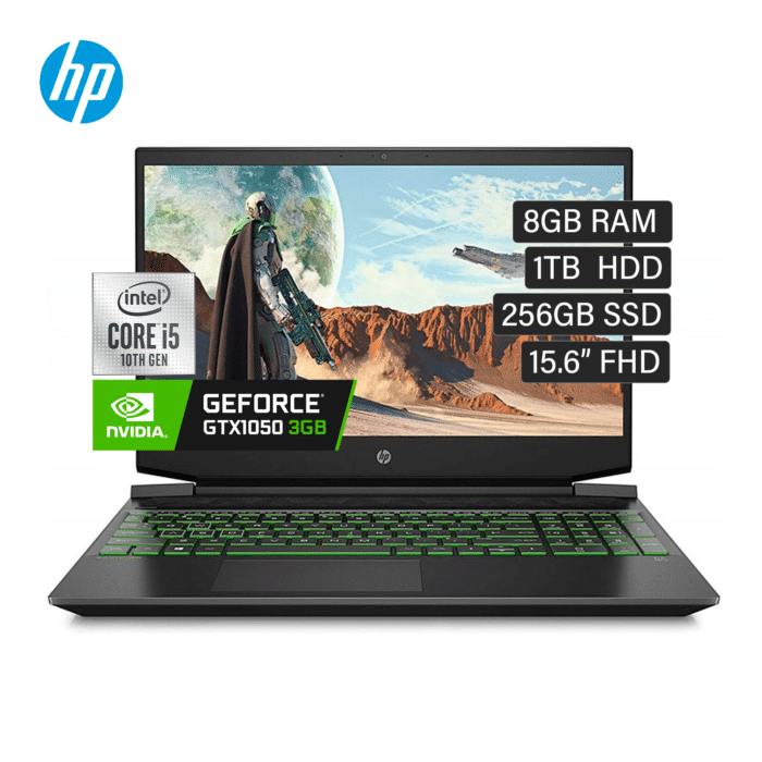 "HP PAVILION GAMING 15-DK1025LA INTEL CORE I5 10300H RAM 8GB DISCO 1TB HDD + 256GB SSD VIDEO 3GB 15.6"" FULL HD - PAVILION 15 - R&M Portátiles"