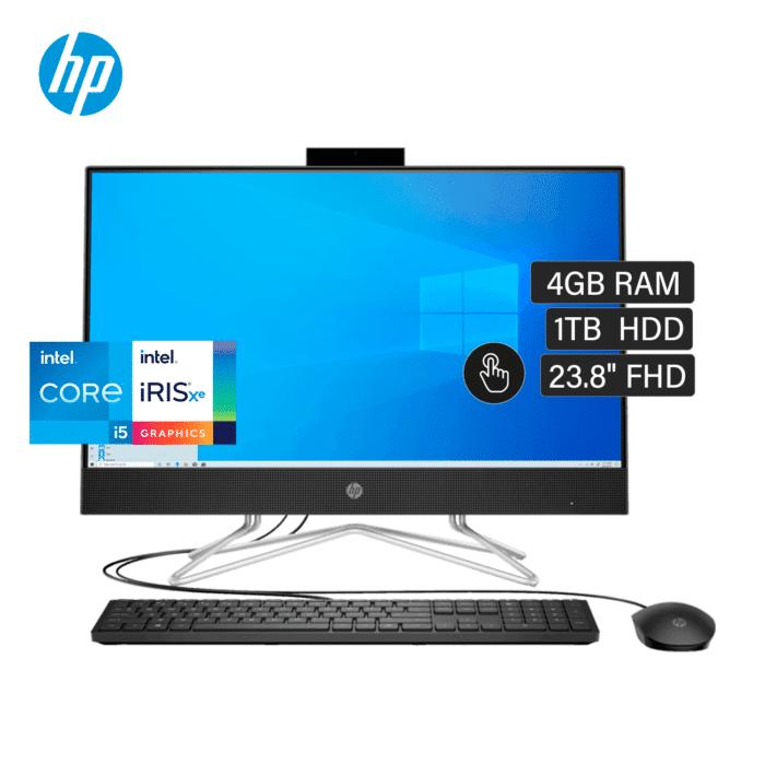 "HP AIO 24-DF1001LA INTEL CORE I5 1135G7 RAM 4GB DISCO 1TB HDD 23.8"" FHD TOUCH WINDOWS 10 - AIO 24 DF1001LA - R&M Portátiles"