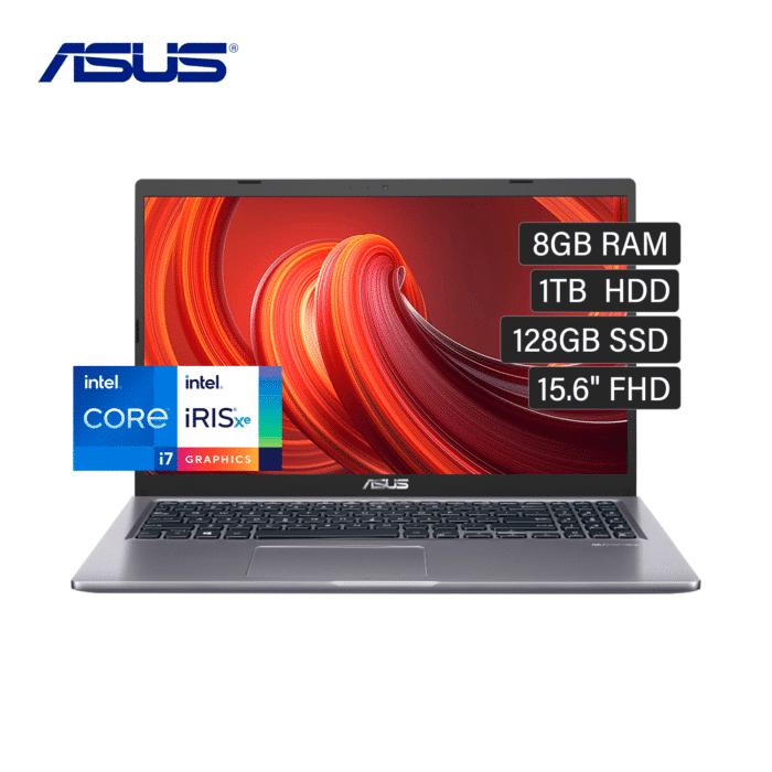 """LAPTOP ASUS X515EA-BQ187 INTEL CORE I7 1165G7 RAM 8GB DISCO 1TB +128GB SSD 15.6"""" FHD FREEDOS - ASUS X515EA - R&M Portátiles"""