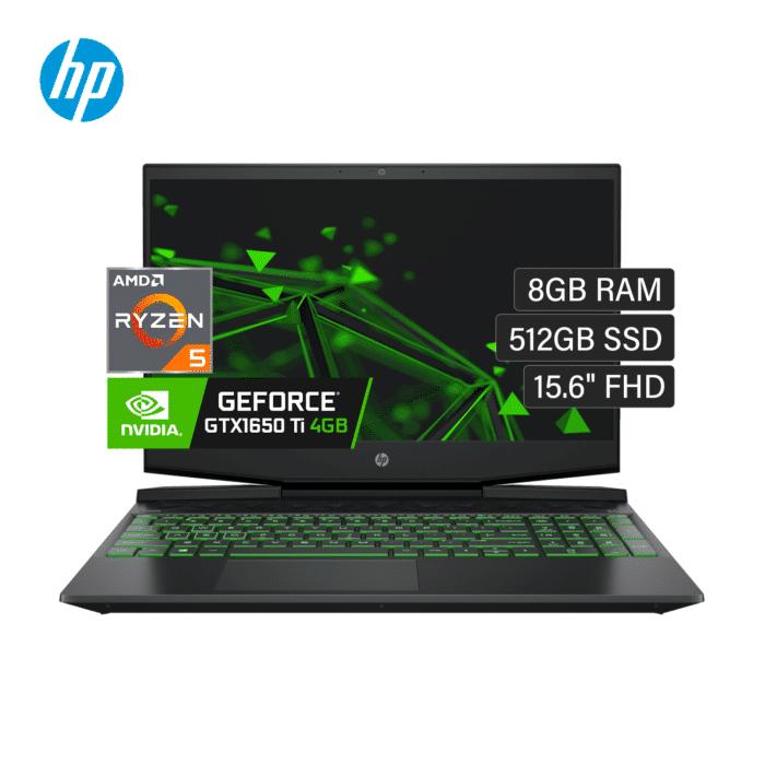 "LAPTOP HP PAVILION GAMING 15-EC1037LA AMD RYZEN 5 4600H RAM 8GB DISCO 512GB SSD VIDEO 4GB 15.6"" FHD WINDOWS 10 - GAMING 15 EC1037LA - R&M Portátiles"