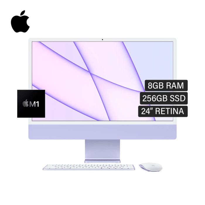 "IMAC A2439 CHIP M1 RAM 8GB DISCO 256GB SSD 24"" RETINA AÑO 2021 PURPURA - IMAC A2439 1 1 - R&M Portátiles"