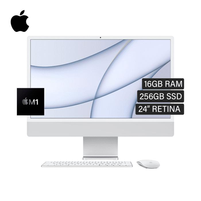 "IMAC A2439 CHIP M1 RAM 16GB DISCO 256GB SSD 24"" RETINA AÑO 2021 SILVER - IMAC A2439 SILVER 1 1 - R&M Portátiles"