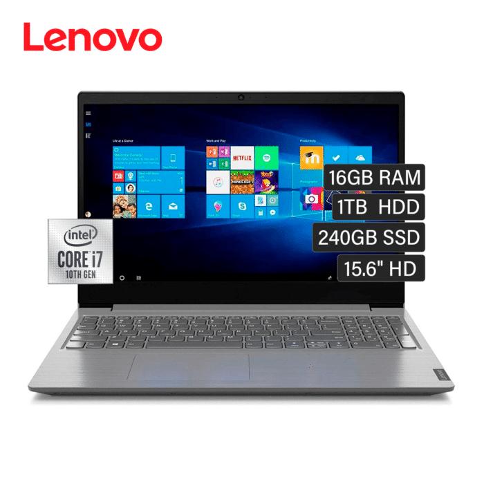 """LAPTOP LENOVO V15-IIL INTEL CORE I7 1065G7 RAM 16GB DISCO 1TB + 240GB SSD 15.6"""" HD FREEDOS - LENOVO V15 IIL - R&M Portátiles"""