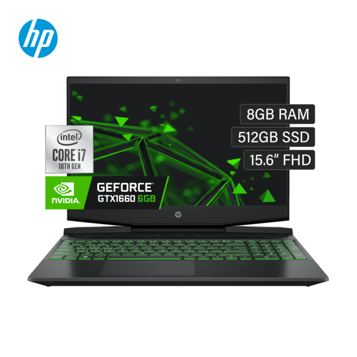 "LAPTOP HP PAVILION GAMING 15-DK1045LA INTEL CORE I7 10750H RAM 8GB DISCO 512GB SSD VIDEO 6GB 15.6"" FHD WINDOWS 10 - PAVILION VIDEO 6GB 15 - R&M Portátiles"