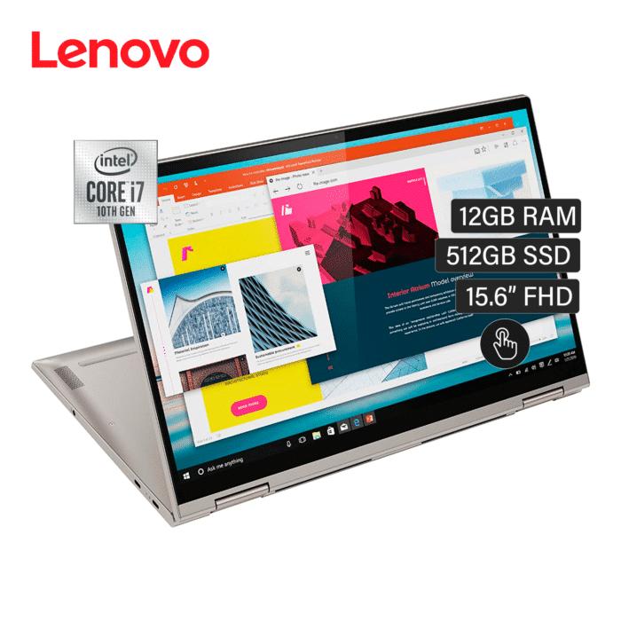 "LAPTOP LENOVO YOGA C740-15IML INTEL CORE I7 10510U RAM 12GB DISCO 512GB SSD 15.6"" FHD TACTIL WINDOWS 10 - lenovo yoga 15.6 1 - R&M Portátiles"