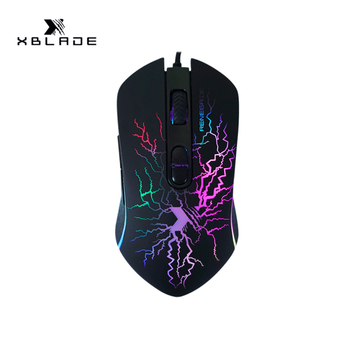 MOUSE XBLADE GAMING RENEGADE RGB PROGRAMABLE BLACK - mouse - R&M Portátiles