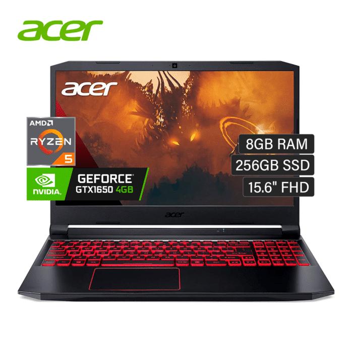 "LAPTOP ACER NITRO 5 AN515-44-R99Q AMD RYZEN 5 4600H RAM 8GB DISCO 256GB SSD VIDEO 4GB 15.6"" FHD WINDOWS 10 - ACER NITRO 5 AN515 - R&M Portátiles"