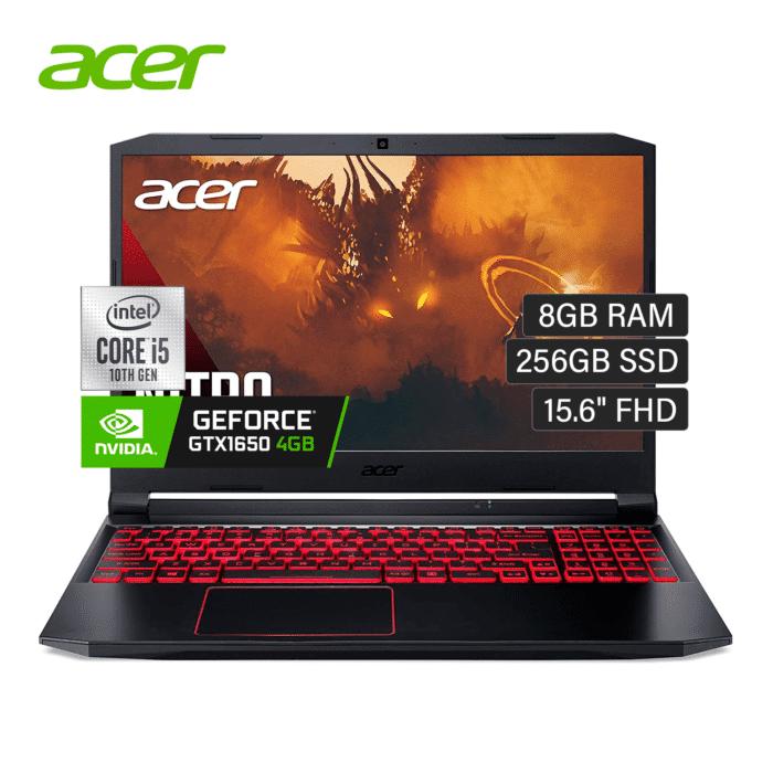 "LAPTOP ACER NITRO 5 AN515-55-5385K INTEL CORE I5 10300H RAM 8GB DISCO 256GB SSD VIDEO 4GB 15.6"" FHD WINDOWS 10 - AN515 55 5385K - R&M Portátiles"