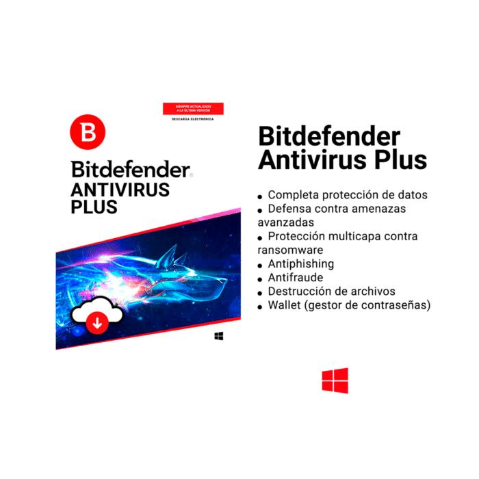 ANTIVIRUS BITDEFENDER 1 PC / 1 AÑO DE LICENCIA - ANTIVIRUS BITDEFENDER 1 - R&M Portátiles
