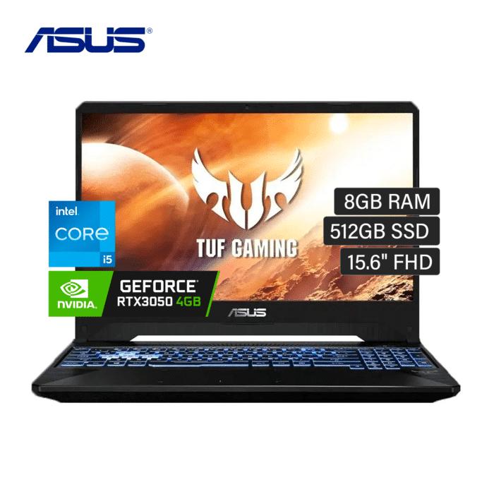 "LAPTOP ASUS TUF FX506H INTEL CORE I5 11400H RAM 8GB DISCO 512GB SSD VIDEO 4GB 15.6"" FHD WINDOWS 10 - ASUS TUF FX506H - R&M Portátiles"