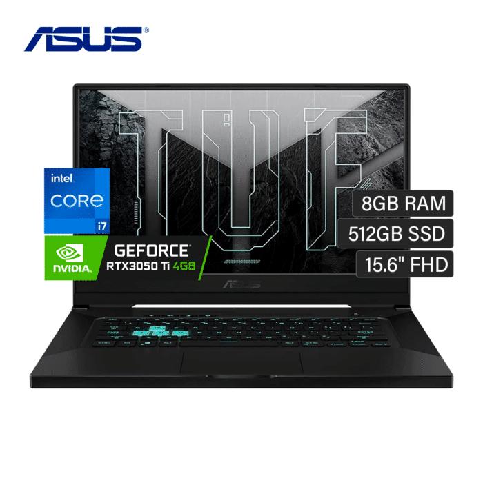 "LAPTOP ASUS TUF 516PE-AB73 INTEL CORE I7 113750H RAM 8GB DISCO 512GB SSD VIDEO 4GB 15.6"" FHD WINDOWS 10 - ASUS TUF516PE AB73 - R&M Portátiles"